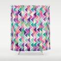 Yummy triangles Shower Curtain