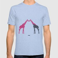 Giraffe Mens Fitted Tee Athletic Blue SMALL