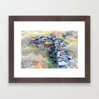 Standing in a Time Capsule Framed Art Print