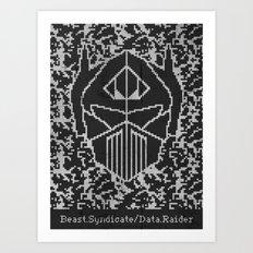 Data Raider Art Print