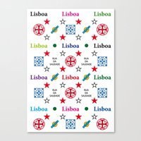 Lisboa, Portugal, Vintage Apple Laptop Skin Iphone Ipad Canvas Print
