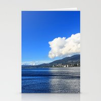 Blue vs. White Stationery Cards