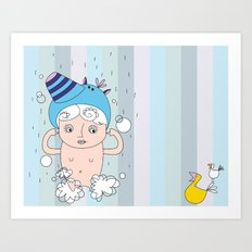 my shower cap Art Print