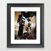 The Feather of Finest the Falcon Framed Art Print