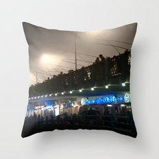 Fish and Man Throw Pillow