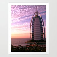Burj Al Arab at Sunset Art Print
