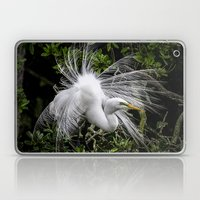 Great Egret Displaying Laptop & iPad Skin