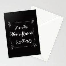 I'm With the Villains Stationery Cards