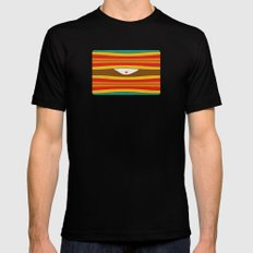 Eye Wave Mens Fitted Tee SMALL Black