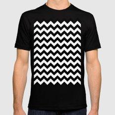 Chevron (Black/White) Mens Fitted Tee Black SMALL