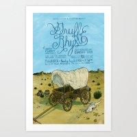 Gruff Rhys poster Art Print