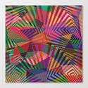 Geometric pattern multicolor Canvas Print