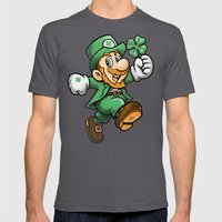 Lucky Mario Mens Fitted Tee Asphalt SMALL
