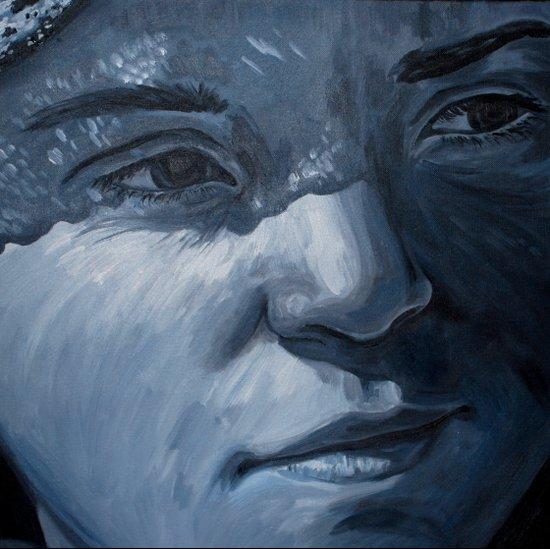 Blue Veins  Art Print