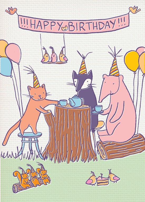 Birthday Tea Party Canvas Print