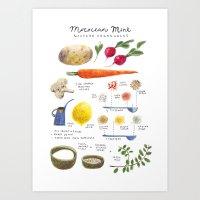 Illustrated Recipes: Mor… Art Print