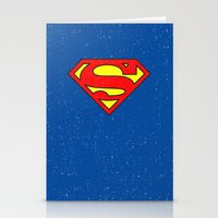 superman Stationery Cards featuring Superman by Alisa Galitsyna