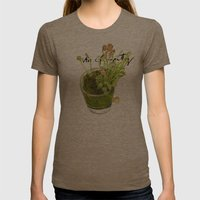 Trap Trap Trap Womens Fitted Tee Tri-Coffee SMALL