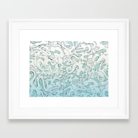 Entangled Clouds Framed Art Print