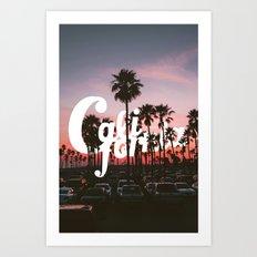 Balboa Pier, California Art Print
