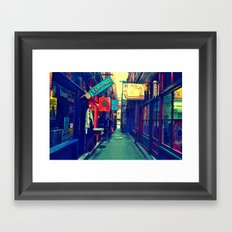 A Look Through Fan Tan Alley Framed Art Print