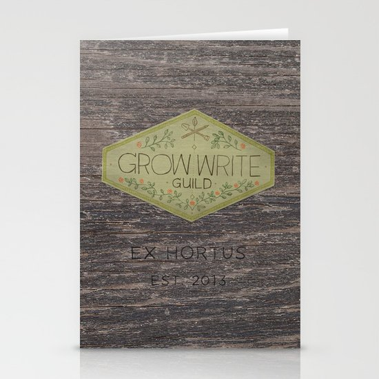 Grow Write Guild Seal Stationery Card