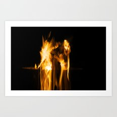 Fire Falling Art Print