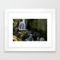 Waterfall at Lumsdale II Framed Art Print