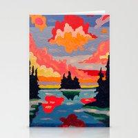 Northern Sunset Surreal  Stationery Cards