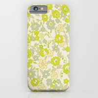 iPhone & iPod Case featuring small floral in neon by threequalsquare