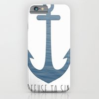 iPhone & iPod Case featuring I Refuse to sink. by Amy Copp
