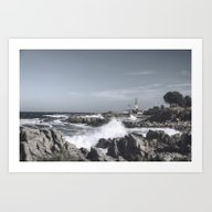 Art Print featuring The Wild Sea by UtArt