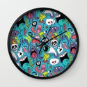 Doodled Pattern Wall Clock