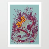 Death Blooms Art Print