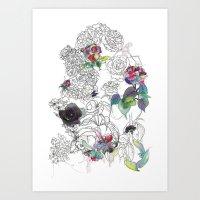 English Garden Art Print