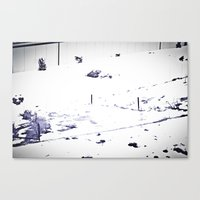 Overrun By Snow Canvas Print
