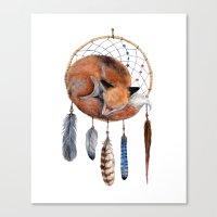 Fox Dreamcatcher Canvas Print