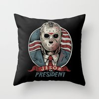 Jason For President Throw Pillow
