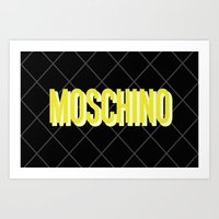 MOSCHINO Quilted Bag Art Print