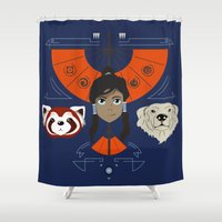 Spirited Avatar Shower Curtain
