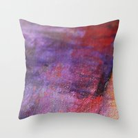 Red Vastness Throw Pillow