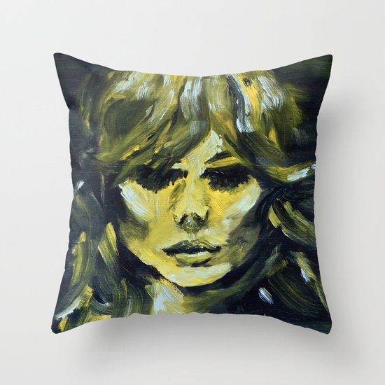 THE YELLOW QUICK PORTRAIT Throw Pillow