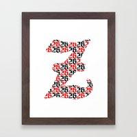 The 26th Letter Framed Art Print