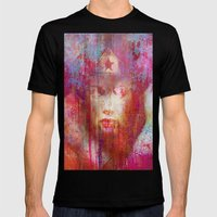 wonder abstract woman Mens Fitted Tee Black SMALL