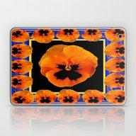 Orange Pansy Garden Coll… Laptop & iPad Skin