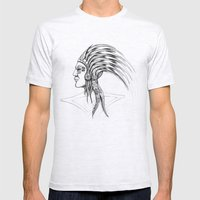 Azteca Mens Fitted Tee Ash Grey SMALL