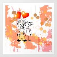 Beste Freunde - best friends Art Print