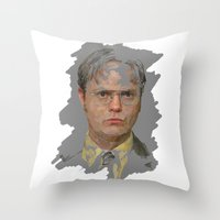 Dwight Schrute, The Office Throw Pillow