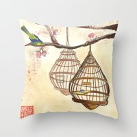 Chinese tea times two Throw Pillow