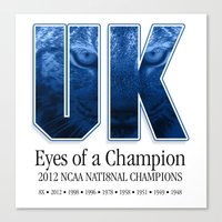 Eyes Of A Champion Canvas Print